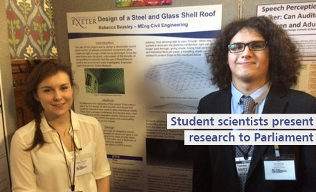 Student scientists present research to parliament