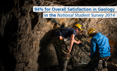 94% for Overall Satisfaction in Geology in the National Student Survey 2014