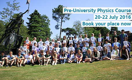 Pre University Physics course. Book now.